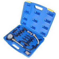 Diesel kompresszió mérő, injektor, izzítógyertya adapterekkel
