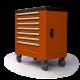 399db-os szerszámos szekrény, szerszámokkal